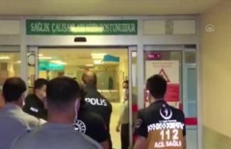 Pazar yerinin camlarını kıran kişi hastanede sakinleştirildikten sonra gözaltına alındı