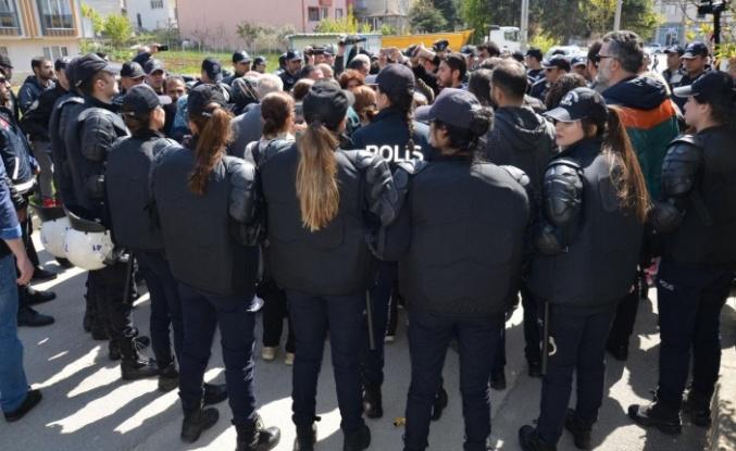 Polis eylemcilere izin vermedi