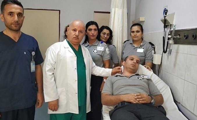 Darıca Farabi'de güvenlik görevlisine saldırı