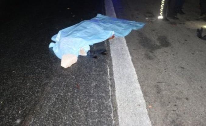 Anadolu Otoyolu'nda bir aracın çarptığı yaya yaşamını yitirdi