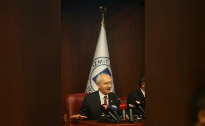 CHP Genel Başkanı Kılıçdaroğlu, İzmit Belediyesinde konuştu: