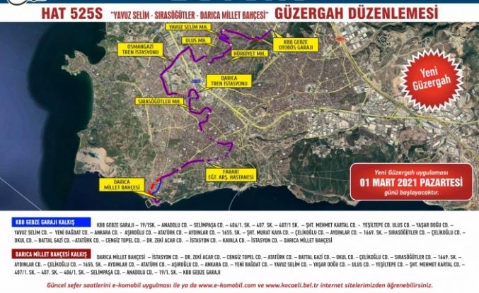 Gebze-Darıca arasında Hat 525S seferleri yarın başlıyor
