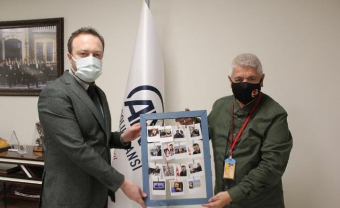 Kocaeli Gazeteciler Cemiyeti'nden AA Sakarya Bölge Müdürlüğüne ziyaret