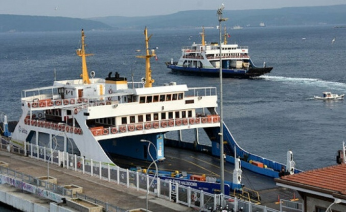 Gökçeada ve Bozcaada hatlarında yarınki feribot seferleri fırtına nedeniyle iptal edildi