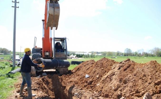 Gebze kırsalında atık su altyapı çalışması