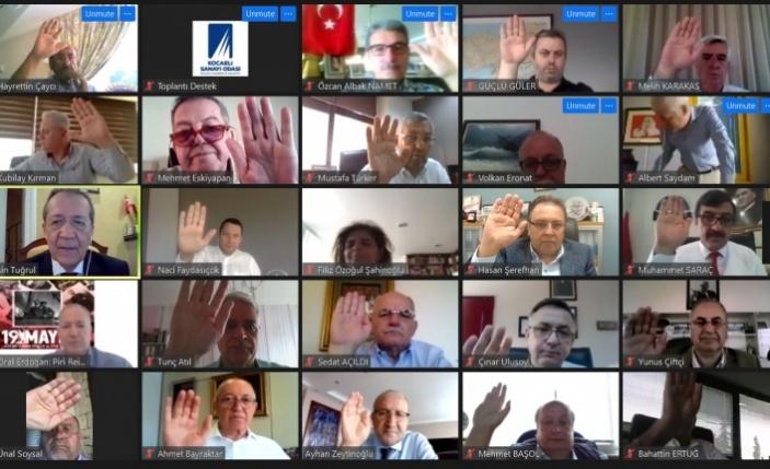 Kocaeli Sanayi Odası  Mayıs ayı Meclis toplantısını Online yaptı