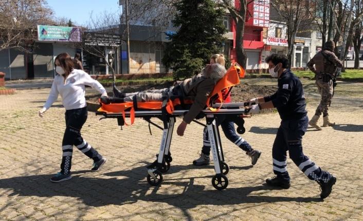Çorlu'da parkta fenalaşan yaşlı adam hastaneye kaldırıldı