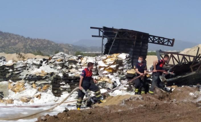 Zift fabrikasında yangın