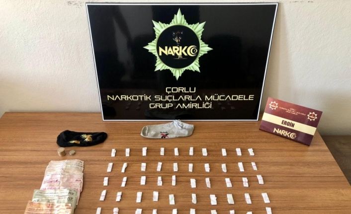 Çorlu'da uyuşturucu operasyonunda 2 kişi yakalandı