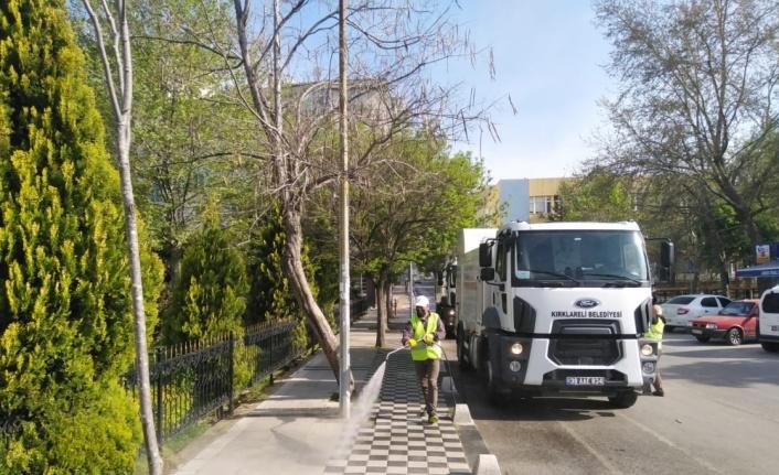 Kırklareli'nde meydan ve caddeler dezenfekte edildi