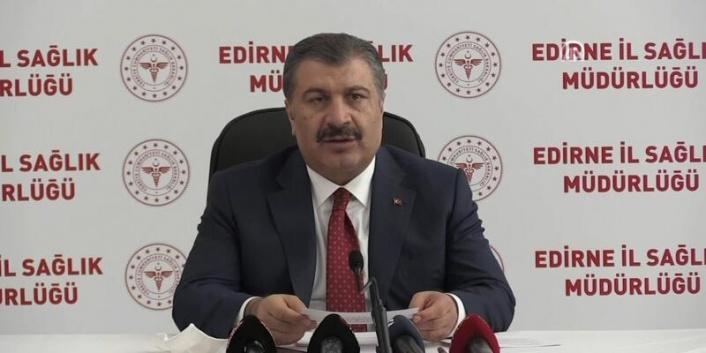Sağlık Bakanı Koca Edirne'de Bölgesel Değerlendirme Toplantısı'nda konuştu: (1)