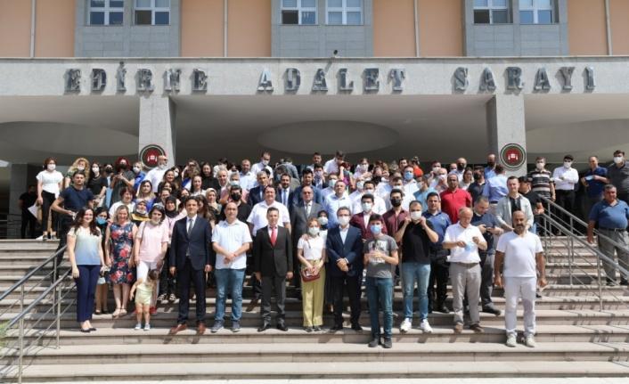 Afyonkarahisar Başsavcılığına atanan Başsavcı Karabacak'ı mesai arkadaşları uğurladı