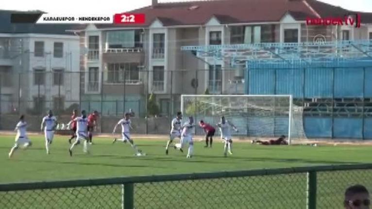 Amatör ligde uzatmada gelen golün ardından çıkan kavgada iki futbolcu darbedildi