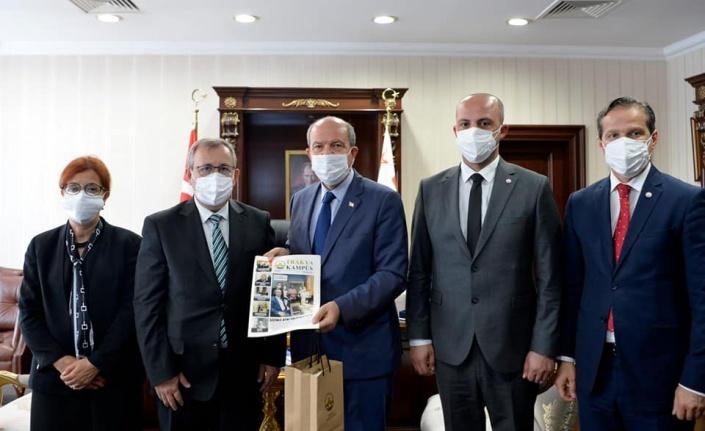 KKTC Cumhurbaşkanı Tatar, Trakya Üniversitesi Rektörü Tabakoğlu'nu kabul etti