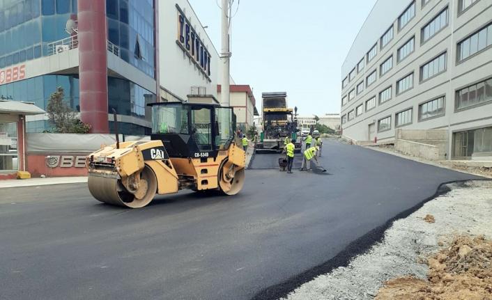 Gebze'de yol onarımlarına devam