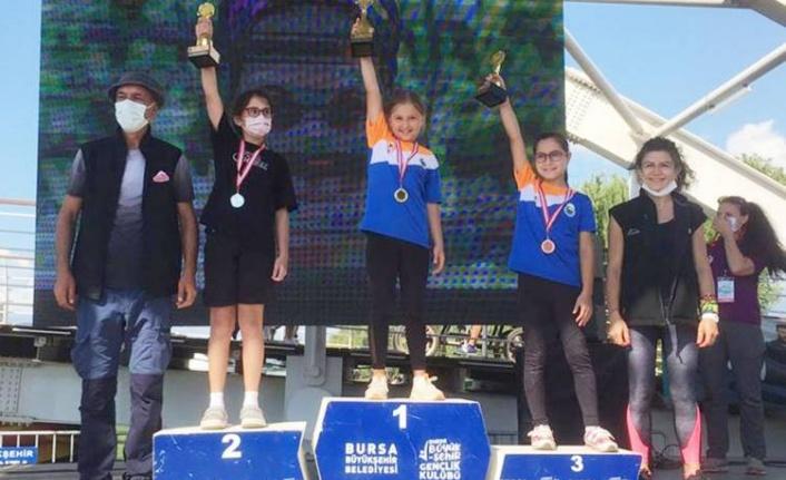 Bursa'da doğa sporlarında 15 kupa İnegöl'e gitti