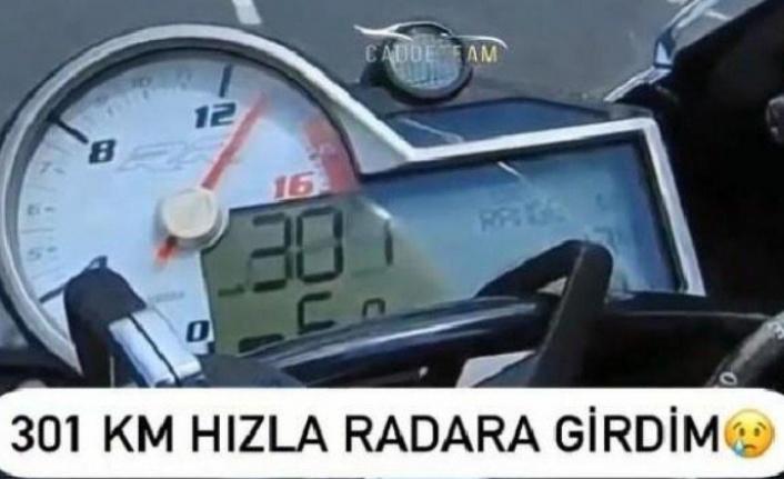 Kocaeli'de otoyolda yüksek hız yapan motosiklet sürücüsüne 1339 lira ceza uygulandı