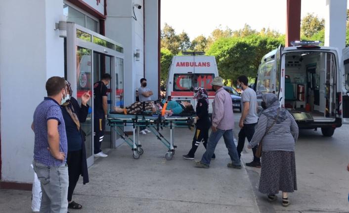 Fındık işçilerini taşıyan traktörün römorku devrildi: 6 yaralı