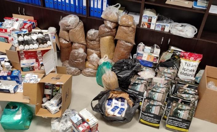 135 kilogram kaçak tütün ele geçirildi