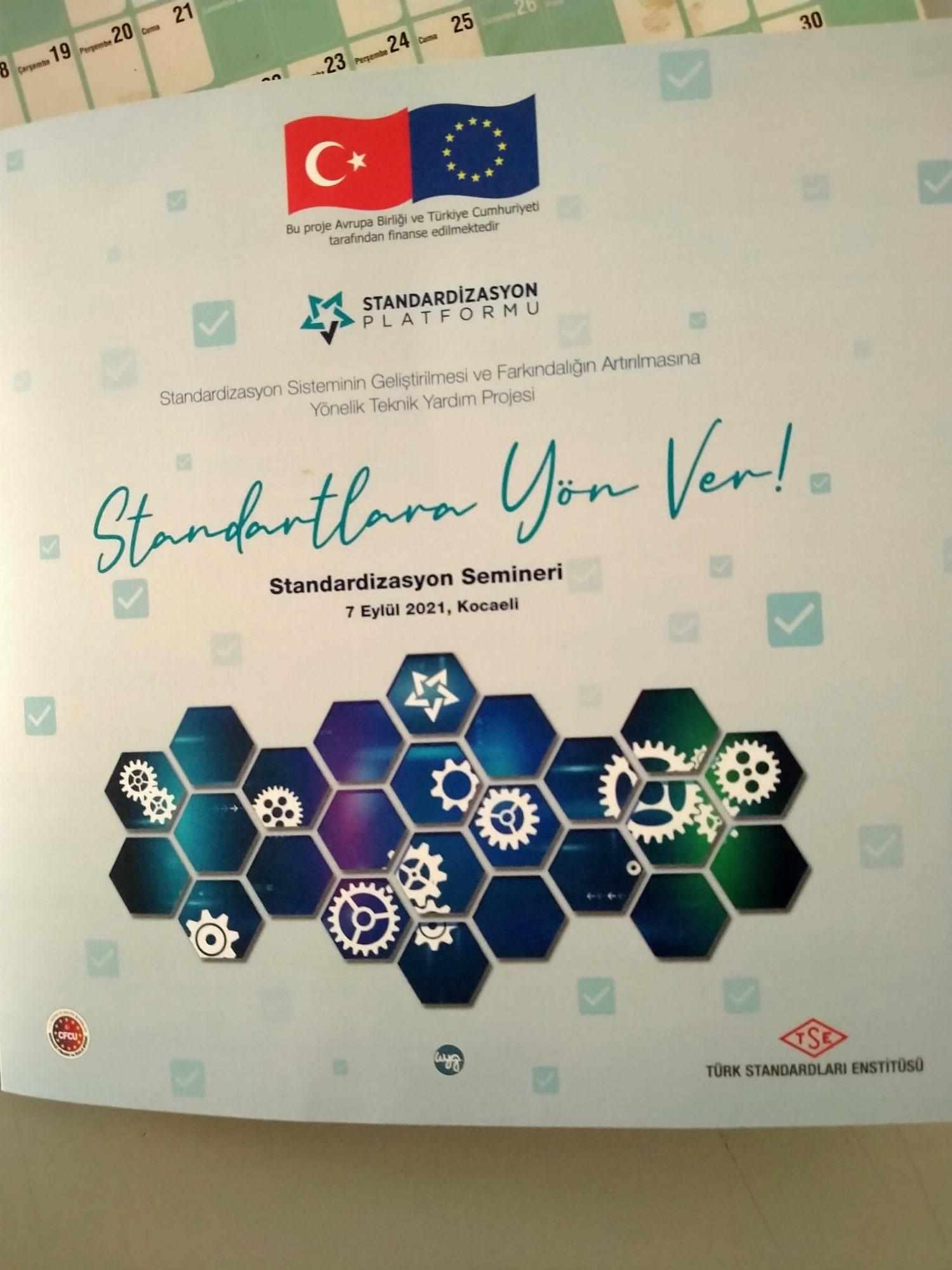 """Türk Standardları Enstitüsü Kocaeli'de """"Standardizasyon Semineri"""" düzenleyecek"""