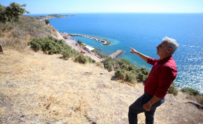 Assos'ta antik liman bölgesinde çalışmalar bilimsel gözetimle sürüyor
