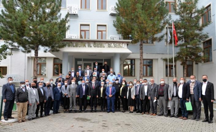 Bilecik Valisi Kızılkaya, muhtarlarla toplantı yaptı