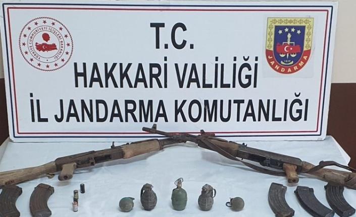 Hakkari Yüksekova'da silah ve mühimmat ele geçirildi