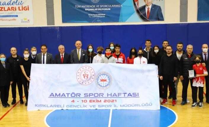 Kırklareli'nde Amatör Spor Haftası kutlandı