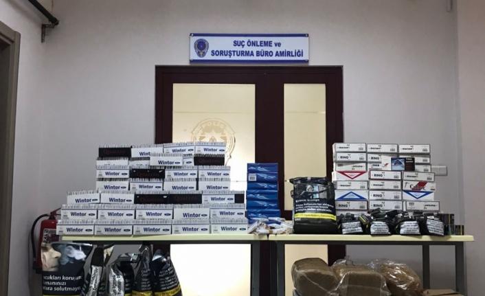 Kocaeli'de 21 kilo 433 gram kaçak tütün ele geçirildi