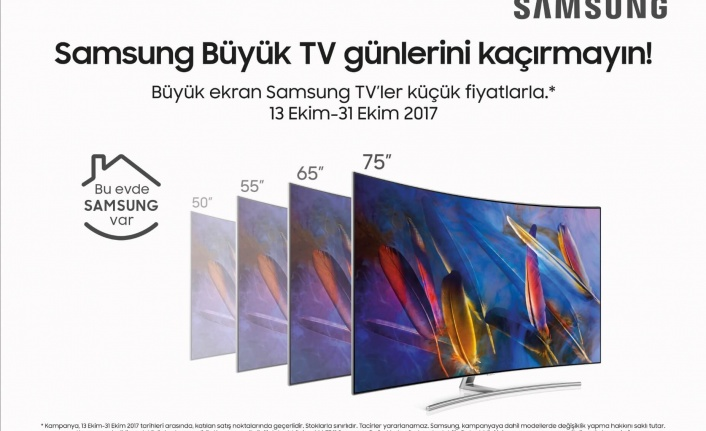 """Samsung """"Büyük TV Günleri"""" kampanyası başladı"""