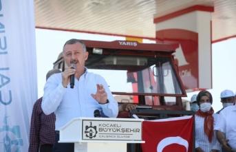 Kocaeli'de çiftçilere 2 milyon litre akaryakıt desteği
