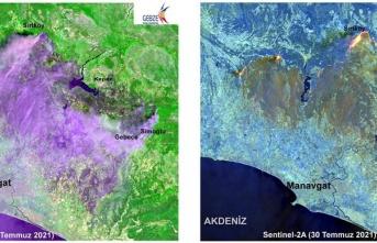 Manavgat'taki yangının etkilediği alan Gebze Teknik Üniversitesi tarafından haritalandırıldı: