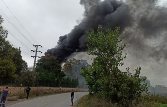 GÜNCELLEME - Kocaeli'de raf fabrikasında çıkan yangın söndürüldü