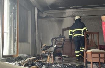Kırklareli'nde evde çıkan yangın hasara neden oldu