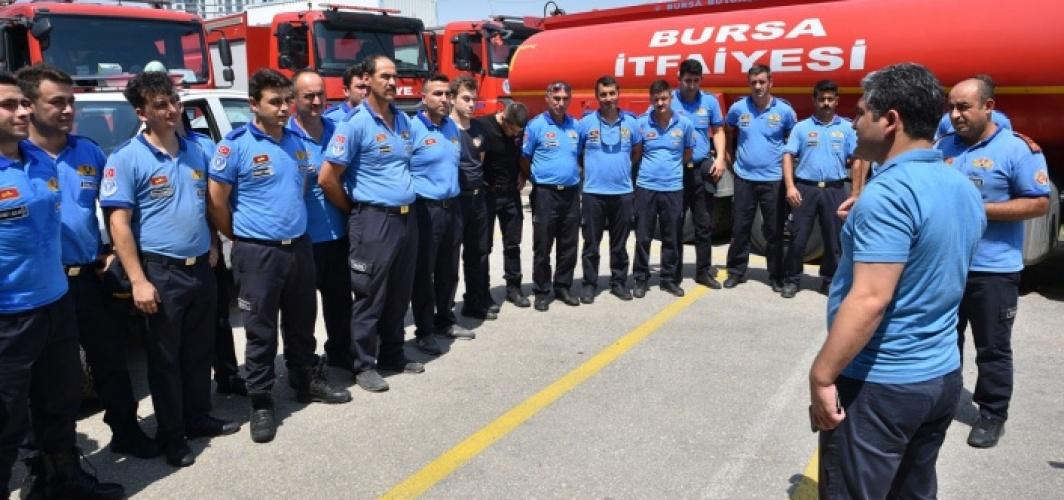 Bursa İtfaiye ekibi Marmaris için yola çıktı