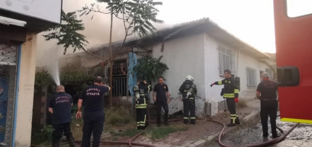 Gebze'de evde çıkan yangın söndürüldü