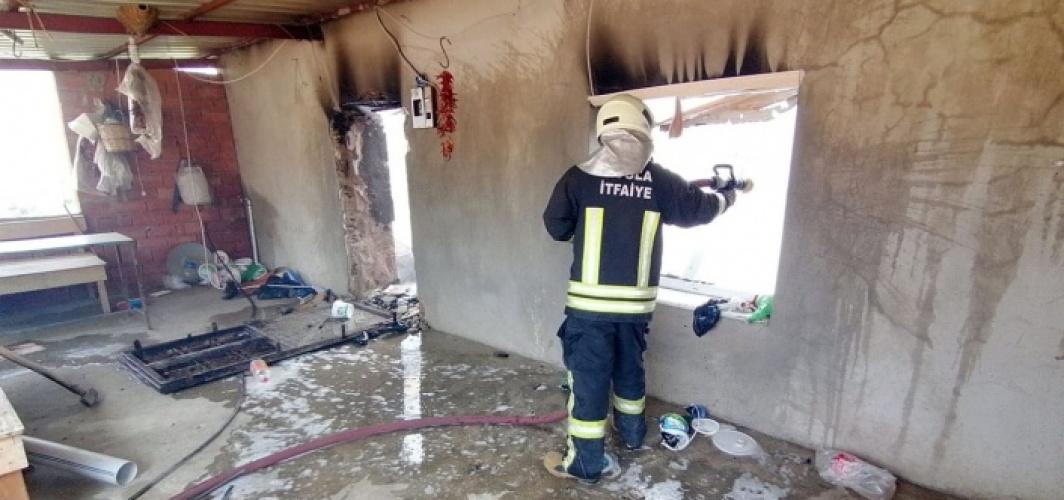 Muğla İtfaiyesi, Aydın'daki yangına müdahale etti