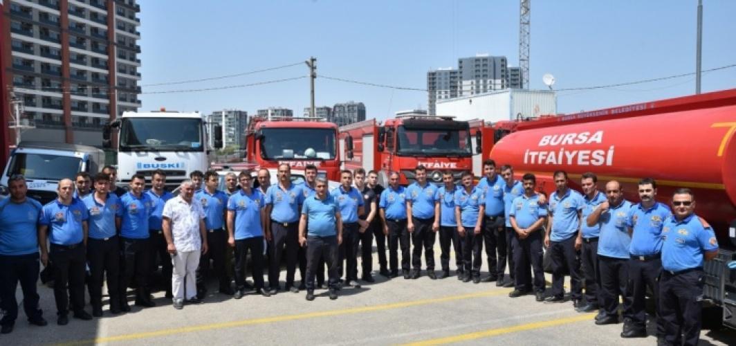 Bursa Büyükşehir Belediyesi itfaiye ekipleri Marmaris'e gönderildi