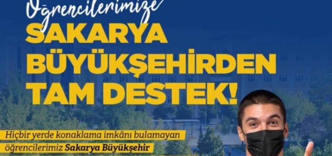 Sakarya'dan üniversiteliye destek