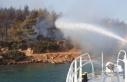 Bodrum'daki yangına denizden müdahale