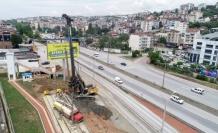 Tramvay yaya köprüsü temel kazıkları çakılmaya başlandı