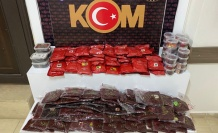 Aydın Didim'de 66 bin gram kaçak nargile tütünü ele geçirildi