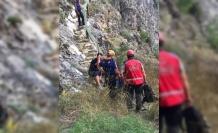 Kanyonda mahsur kalan kişi kurtarıldı