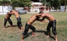 Edirneli pehlivanlar aşırı sıcaklara rağmen Kurtdereli ve Elmalı yağlı güreşlerine hazırlanıyor