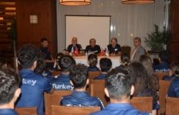 Eski MHK Başkanı Çulcu ve teknik direktör Kaan Dobra'dan Short Track Milli Takım Kampı'na ziyaret