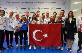 Bakan Kasapoğlu, Avrupa Trampolin Cimnastik Şampiyonası'nda...