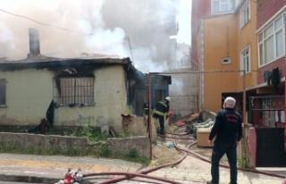 Gebze''de Suriyeli ailenin kaldığı evde...