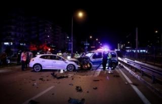 Alkollü sürücünün neden olduğu kazada ikisi...