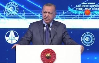 Cumhurbaşkanı Erdoğan: Kanal İstanbul, İstanbul'un...