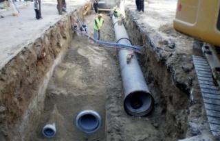 İvrindi'de altyapı ve kanalizasyon yenileme çalışmasına...